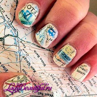 Дизайн ногтей: Газетный принт