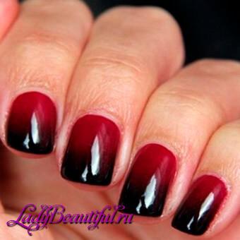 Дизайн ногтей омбре на коротких ногтях