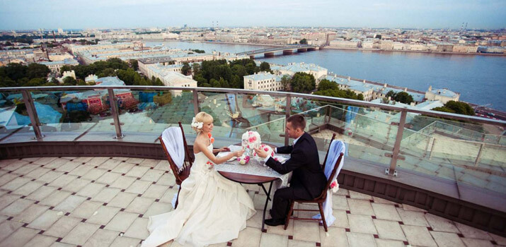 Фото: Оригинальные места для празднования свадьбы - Крыша небоскреба