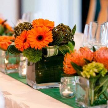Фото: Модный цвет для свадьбы - оранжевый