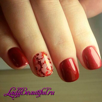 Дизайн осеннего маникюра на коротких ногтях