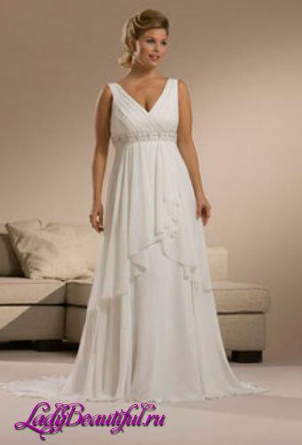 Платья для полных девушек в греческом стиле