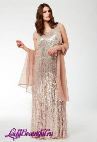 Платья для полных девушек: вечерние