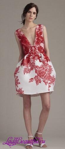 Платья с крупными цветами 2016