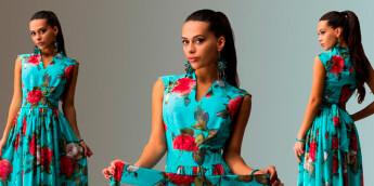 Платья с цветочным рисунком 2016 с чем носить