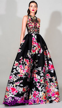 Длинные платья в цветочек 2016