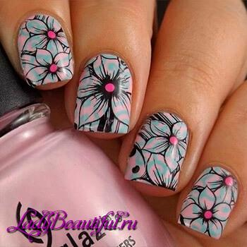 Рисунок на ногтях фото с бабочками