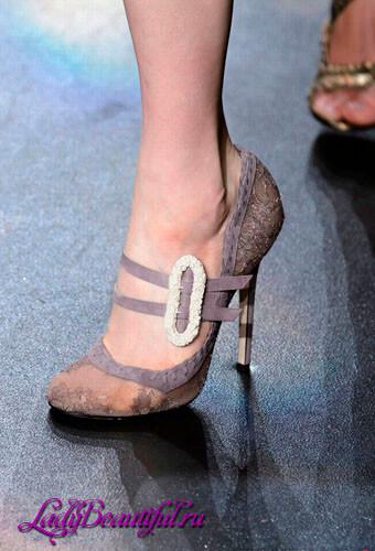 Модные туфли на каблуке осень-зима 2016-2017