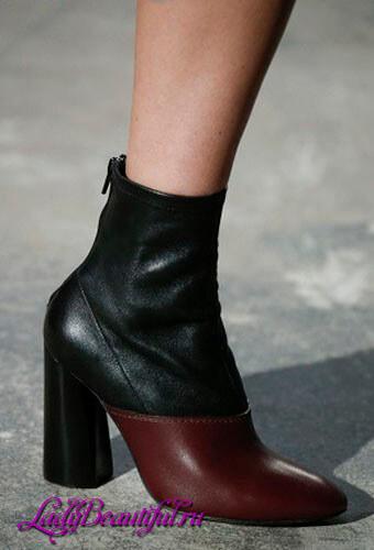 Модные полусапожки на каблуке осень-зима 2016-2017