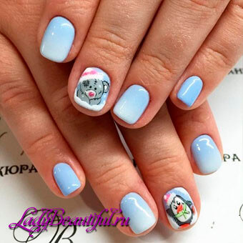 Зимний дизайн ногтей шеллаком 2017