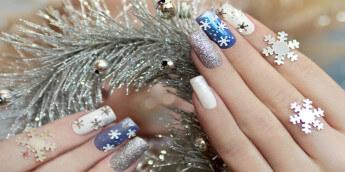 Зимний дизайн ногтей шеллаком 2017 - фото, идеи дизайна