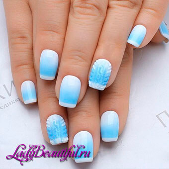 Дизайн ногтей с белым лаком фото