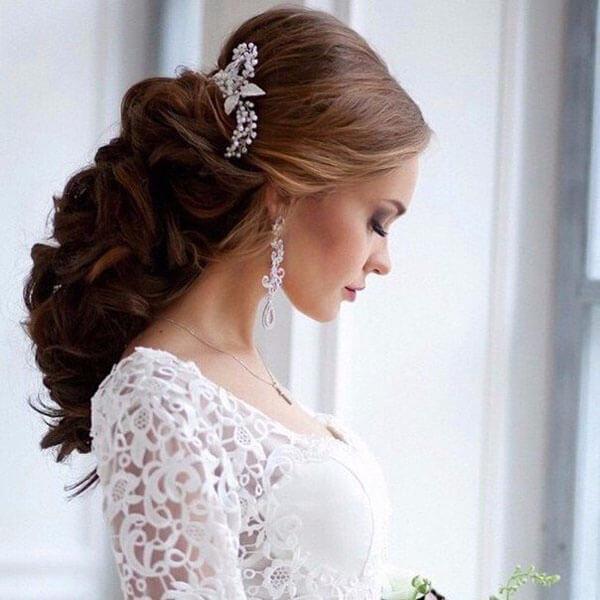 Прически на свадьбу 2016 на средние волосы