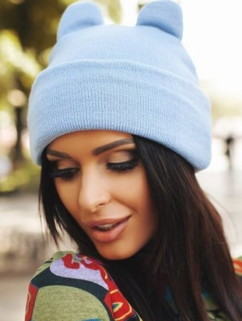 Модные шапки с ушками осень-зима 2016-2017
