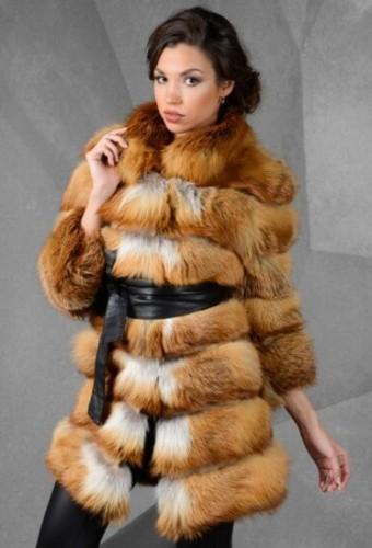 Модные шубы из лисы осень-зима 2016-2017