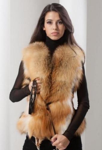 Модные меховые жилетки осень-зима 2016-2017