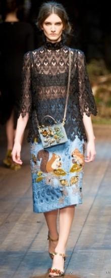 Модные юбки осень-зима 2016-2017: принты и узоры