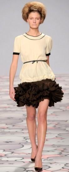 Модные юбки с бахромой, оборками и складками осень-зима 2016-2017
