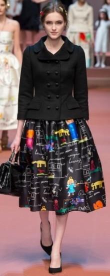 Модные юбки-миди осень-зима 2016-2017