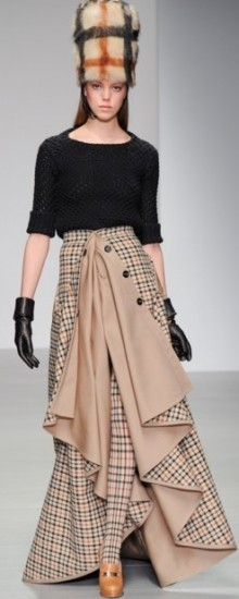 Модные юбки сложного кроя осень-зима 2016-2017