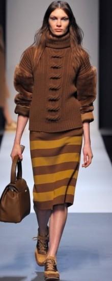 Модные вязаные юбки осень-зима 2016-2017