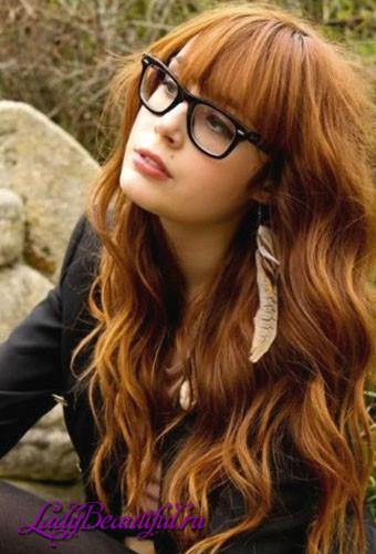 Прически с челкой на длинные волосы