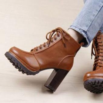 Модные ботильоны на толстом каблуке