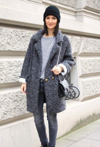 Модные дубленки в стиле «гранж»
