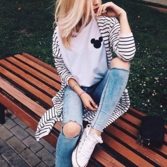 Модные образы на каждый день осень-зима 2016-2017 с джинсами