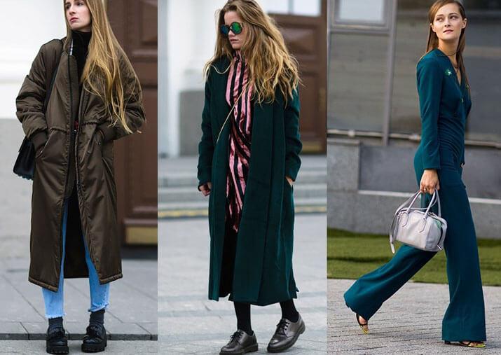 Модные образы уличной моды — показы в Нью-Йорке