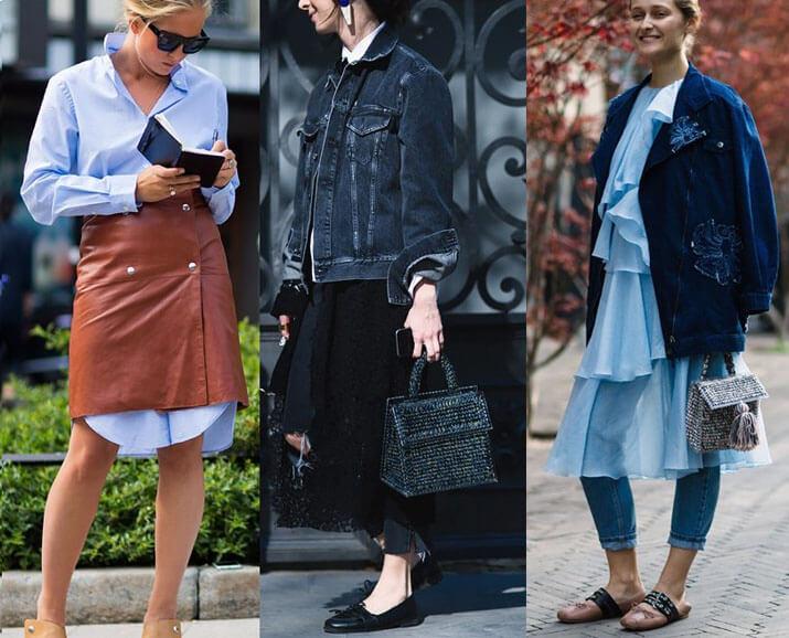 Модные образы уличной моды — показы в Париже