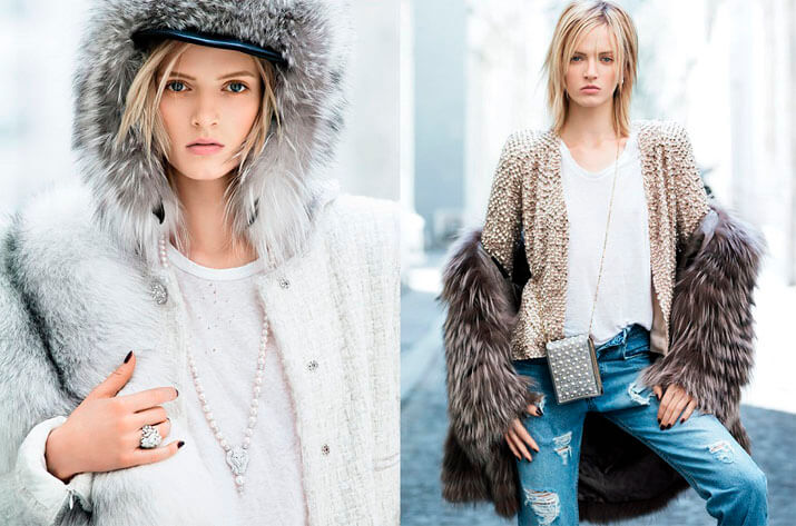 Модные образы уличной моды осень-зима 2016-2017 — мех