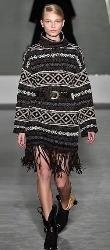 Модные принты свитеров и туник осень-зима 2016-2017