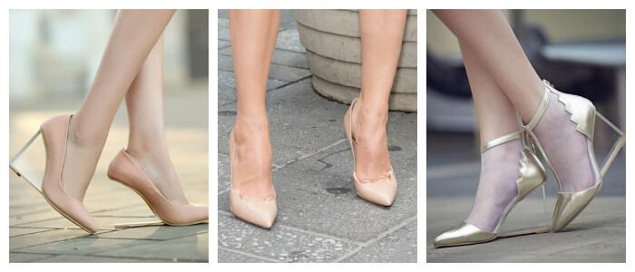 Туфли 2016 на каблуках в стиле Нюд