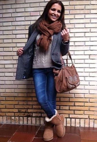 С чем носить модные угги в сезоне осень-зима