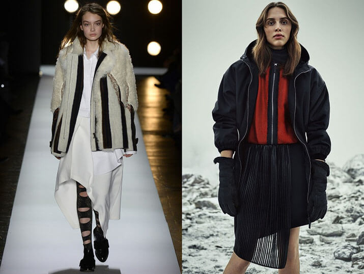 Модные женские пуховики от Fendi осень-зима 2016-2017
