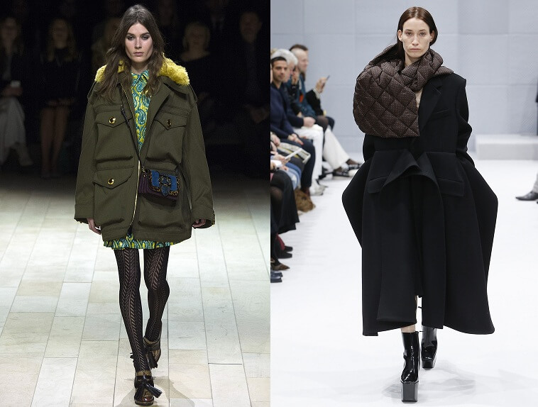 Модные женские пуховики от Versace осень-зима 2016-2017