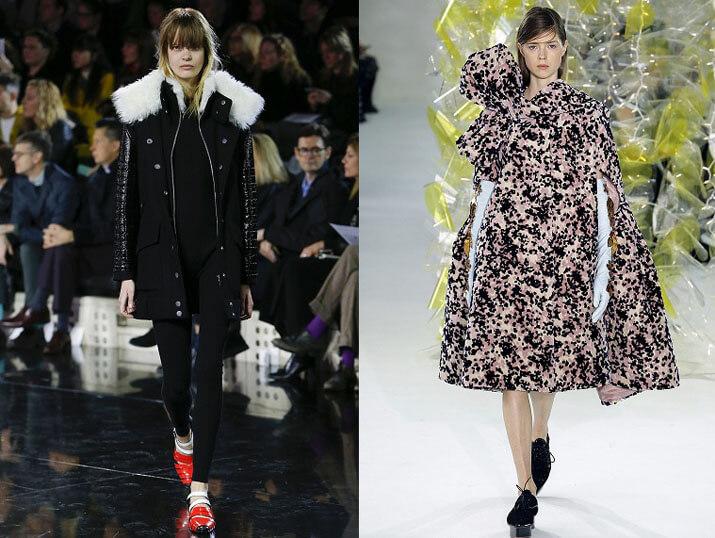 Модные женские пуховики от Moschino осень-зима 2016-2017