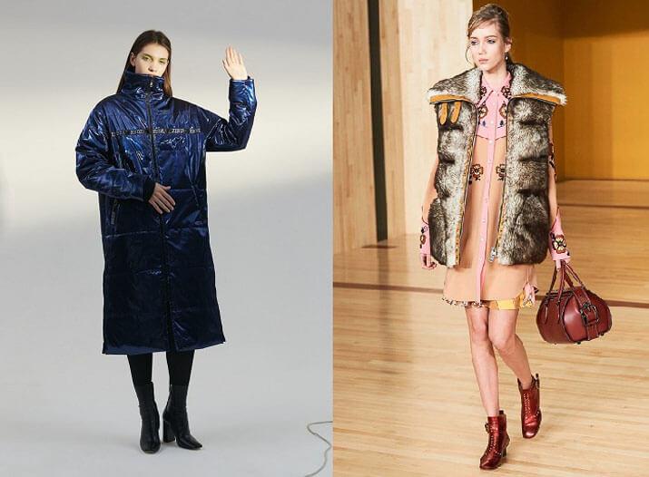 Модные материалы пуховиков сезона 2016-2017