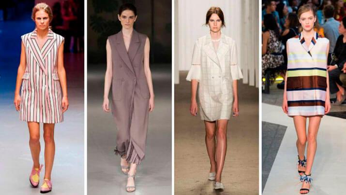 Модный офисный стиль весна-лето 2016 — Платье-Пиджак