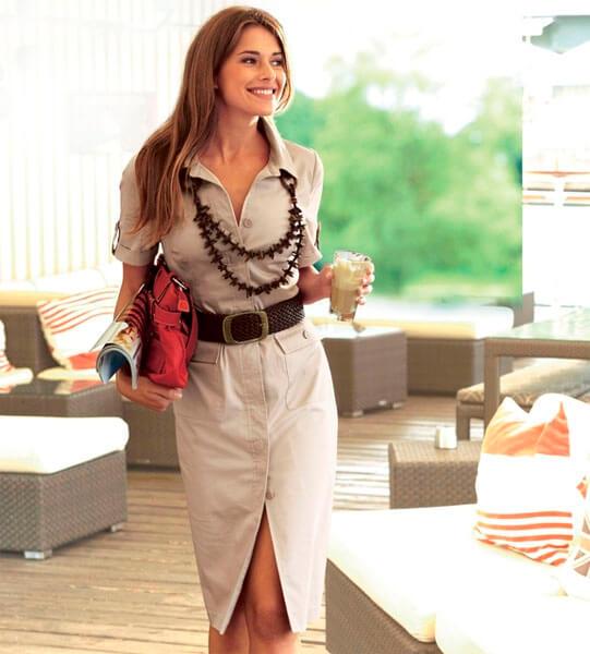 Модный офисный стиль весна-лето 2016 — Платье-Рубашка