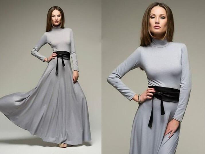 Модный офисный стиль весна-лето 2016 — Длинные платья