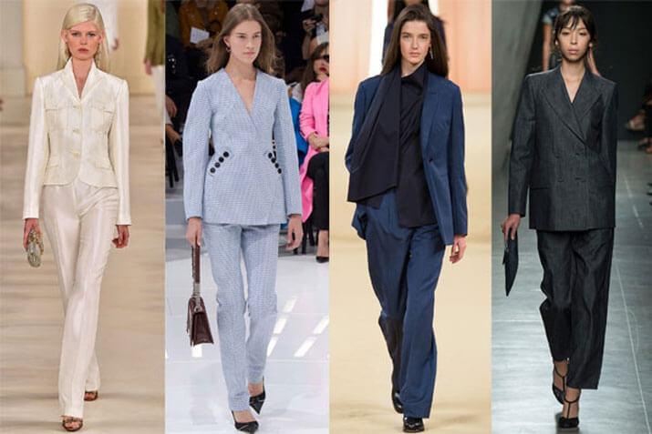 Модный офисный стиль весна-лето 2016 — Брючный костюм в мужском стиле