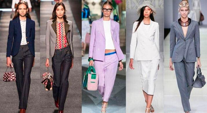 Модный офисный стиль весна-лето 2016 — Костюмы с двубортным пиджаком