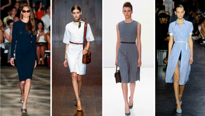 Модный офисный стиль весна-лето 2016 — Короткие платья