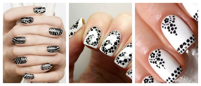 Рисунки на ногтях в домашних условиях: дотсом