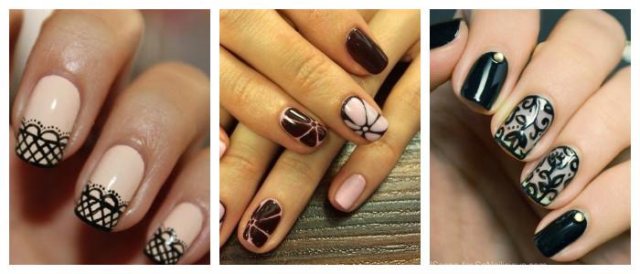 Рисунки на ногтях в домашних условиях: гель-лаком
