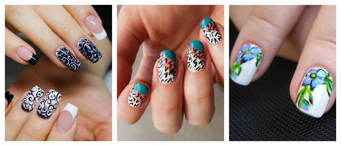 Рисунки на ногтях в домашних условиях: красками
