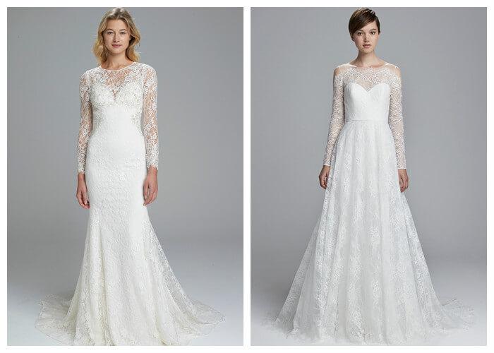 Свадебные платья закрытые с длинным ажурным рукавом