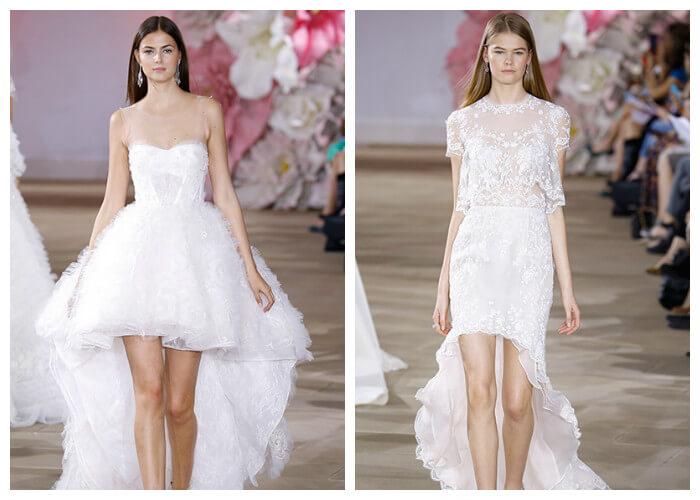 Свадебные короткие платья